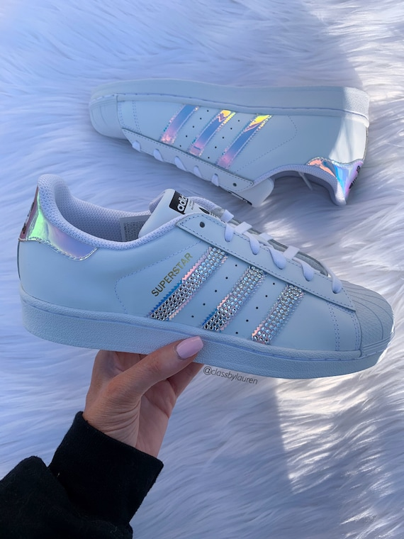 Swarovski Adidas Iridescent Superstars