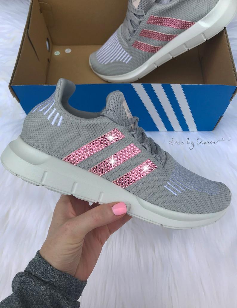 5bacfd780f4bb Swarovski Adidas Swift Run Shoes with Pink Crystals