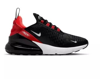 Nike Air Max 270 Black/Red Customized with Swarovski Crystals