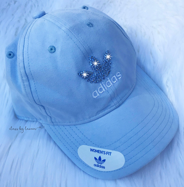 Baby Blue Suede Adidas Swarovski Hat  c8405f6d70f