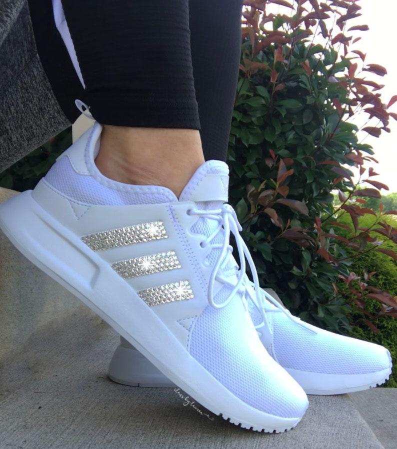pretty nice 87e28 162fd Swarovski Adidas Originals XPLR Girls Preschool Shoes | Etsy