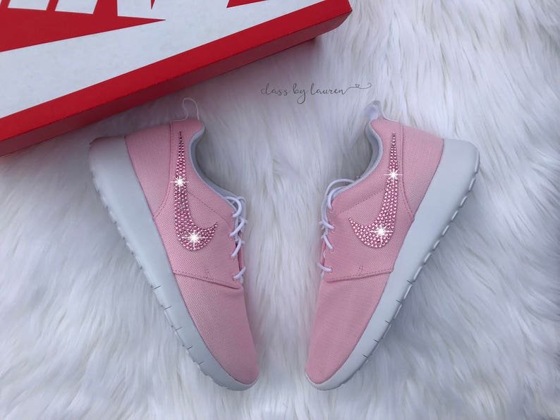 wholesale dealer 1d861 eccdf Swarovski Pink Nike Roshe One Girls Preschool Shoes