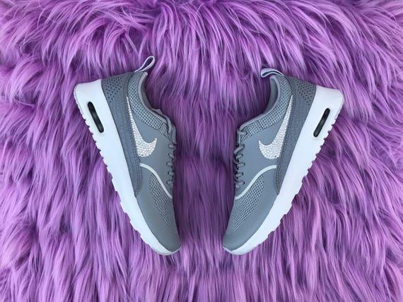 4423b881b77f Swarovski Damen Nike Air Max Thea Silber Schuhe