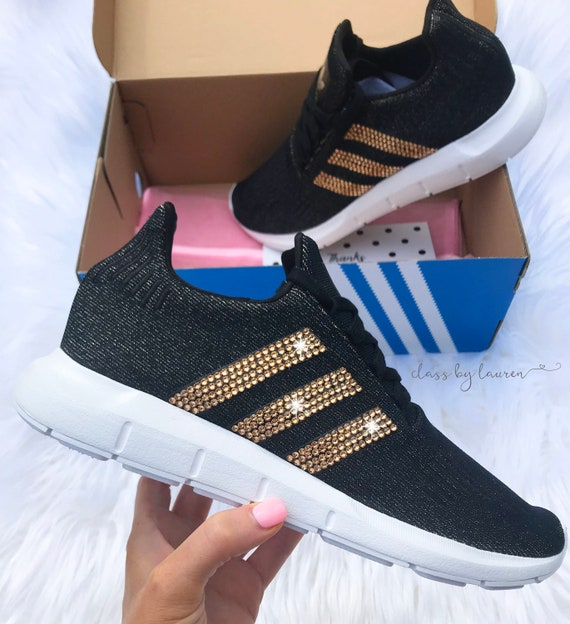 Swarovski Adidas Swift Run Shoes Black  983dbd385