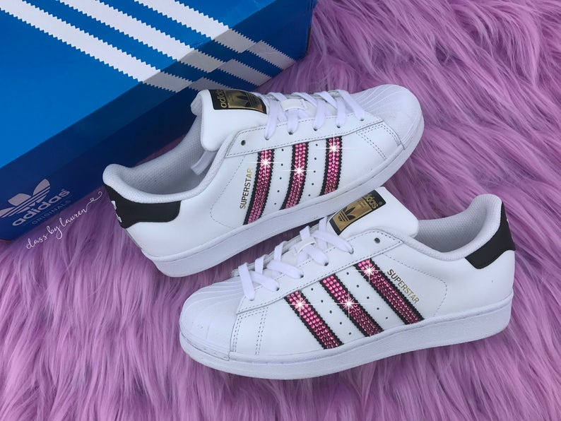 plus récent 38f0c ac11e Swarovski Adidas Original Superstar Women Shoes Pink