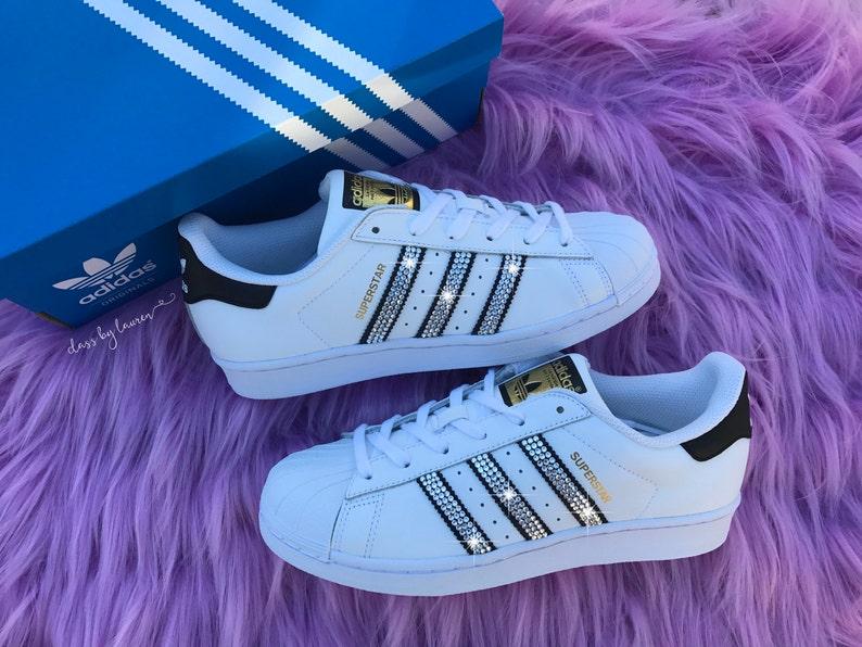 2ed498750f47 Swarovski Girls Preschool Adidas Original Superstar