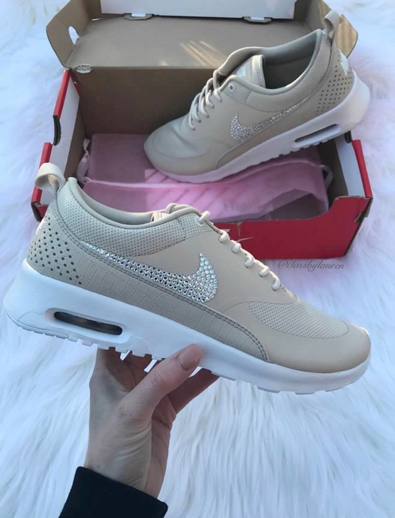 50214ae759b5 Swarovski Nike Air Max Thea Nude Shoes | Etsy