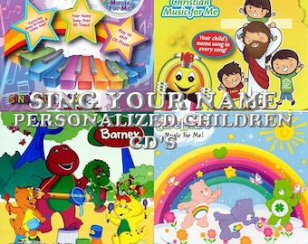 Sing Your Name Personalized Children CD&MP3 - Barney, Care Bears, Music For Me, Christmas - Many More!