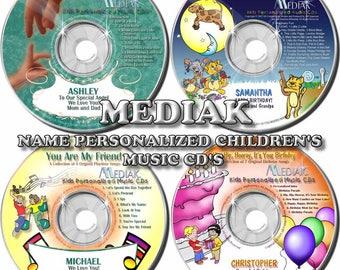 Mediak Name Personalized Children CD & MP3 - Jesus Loves You - Happy Birthday - Nursery Rhymes - More!