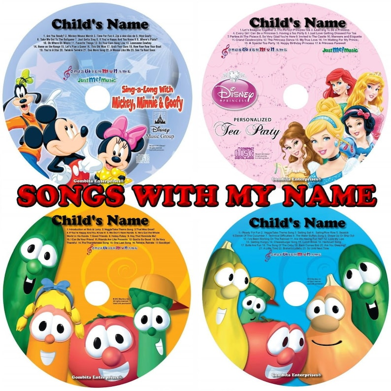 Songs With My Name Personalized Children CD & Optional MP3 image 0