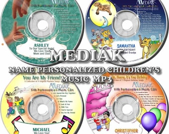 Mediak MP3 Digital Download 30 Children's Personalized Selections - Jesus Loves You - Happy Birthday - Nursery Rhymes - No Item Sent By Mail