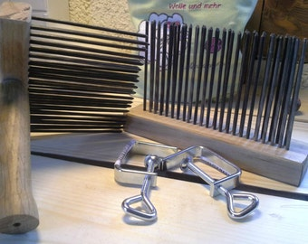 Wool comb comb station English wool combs carder handcarding comb Wool comb Harkle