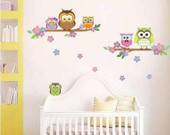 Owl Flower Wall Art