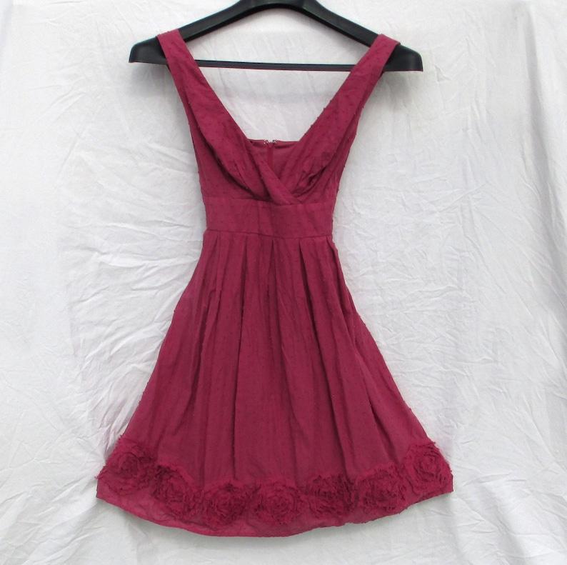 518c5ec361 Womens Summer Dress Deep Rose Sleeveless Rosette Trim Maurices