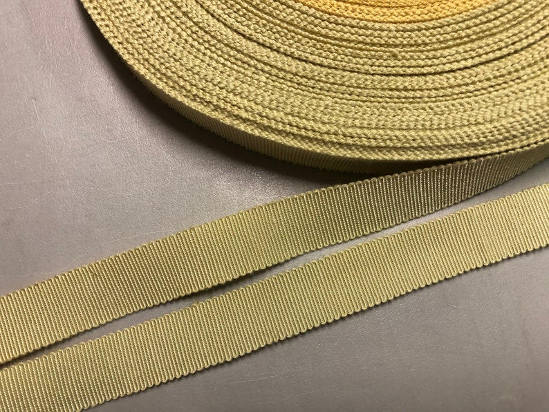 Vintage Gros Grain Ribbon in Ecru CottonRayon Blend Price is per Yard 58 inches made in France
