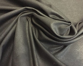 """Ponte Knit in Black with an embossed Reptile-Dot Pattern, 3/4 yard piece, 54"""" wide"""