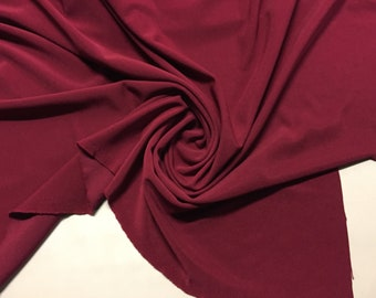 """Deep Red Polyester Ponte knit, amazing weight and texture, Price is per yard, 60"""" wide"""
