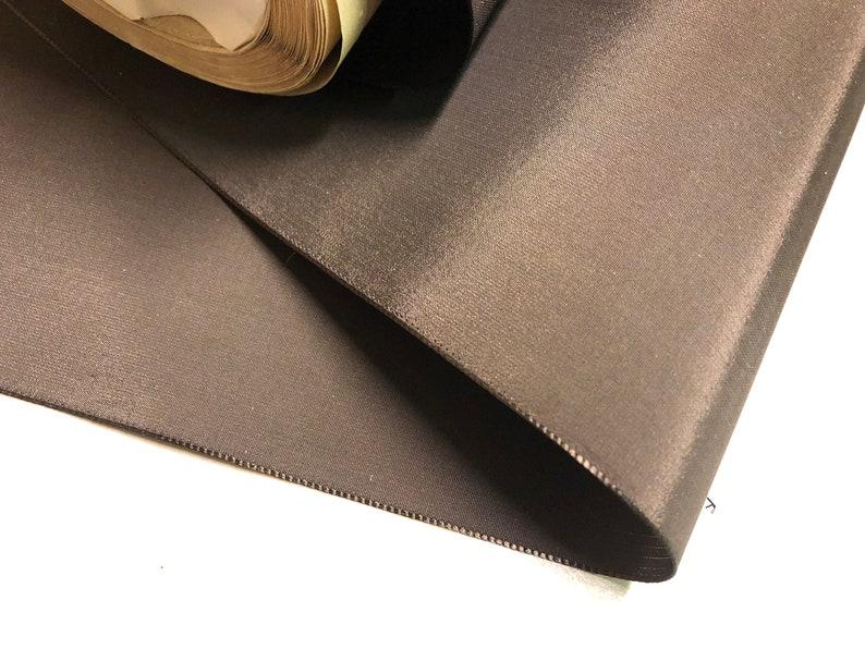 Swiss Brown 100/% Rayon 5 18 inches wide Vintage Taffeta Ribbon Price is per Yard