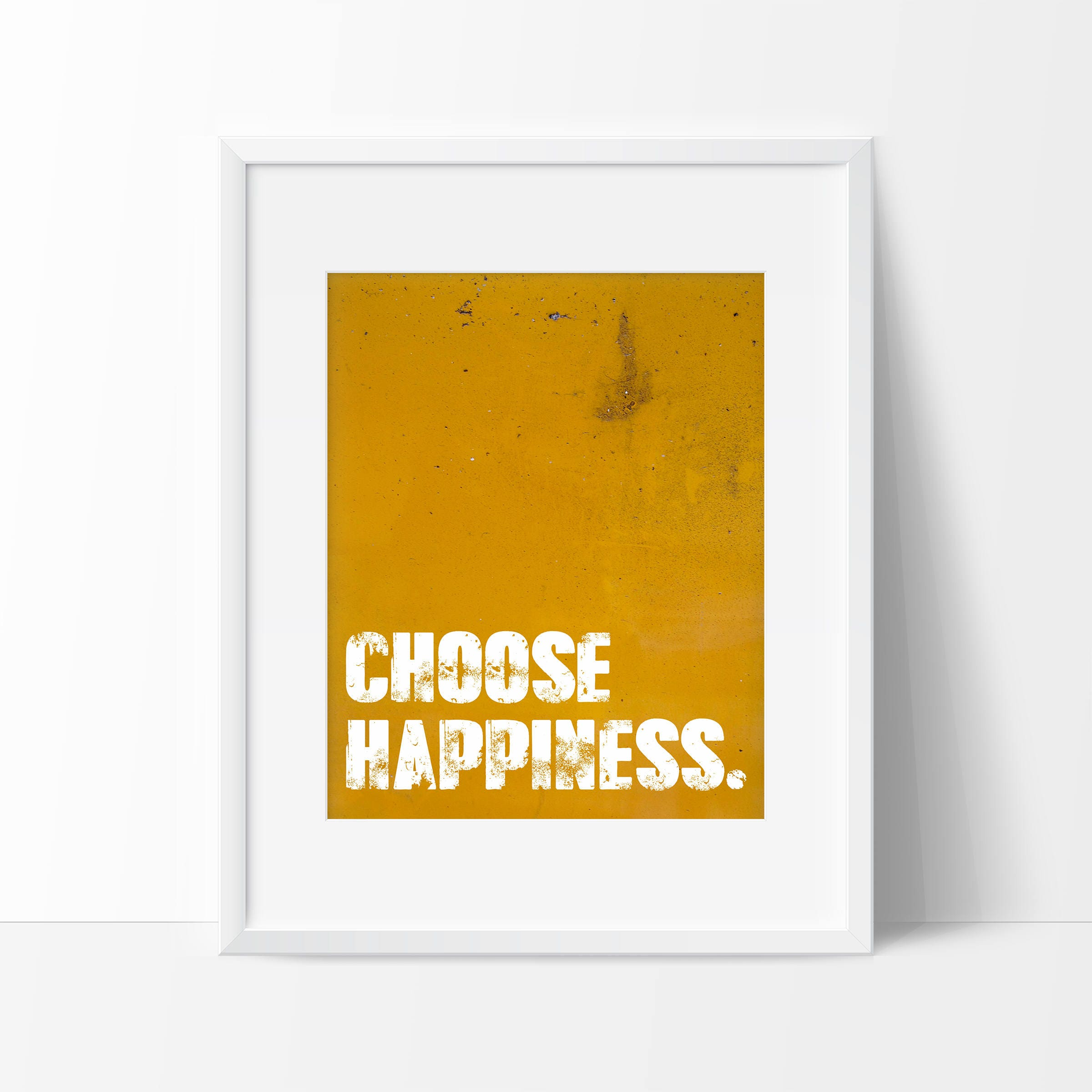 Choose Happiness Art Print Inspirational Wall Art | Etsy