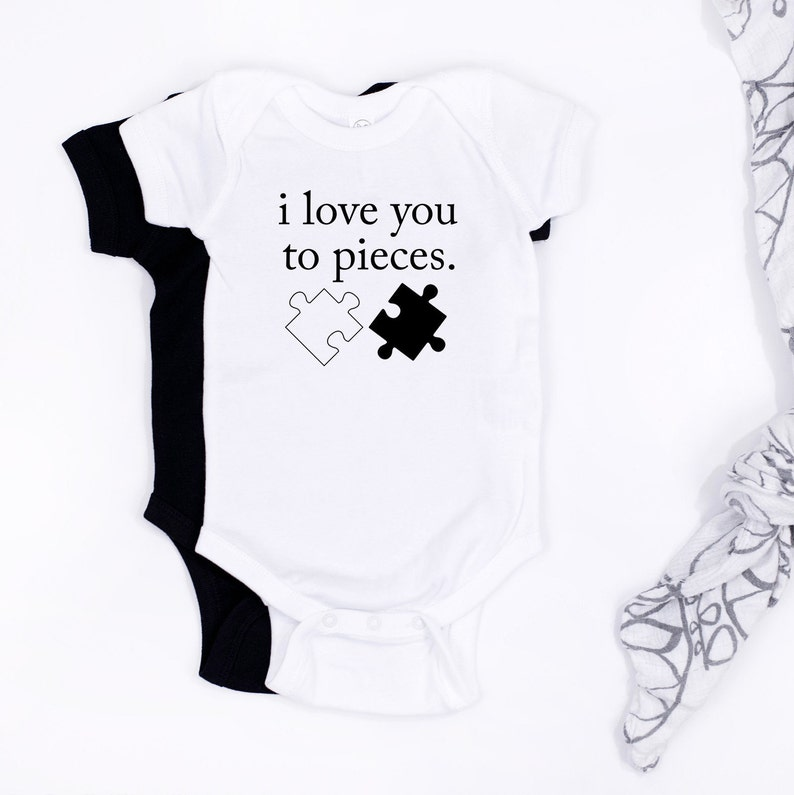 Unisex Baby Bodysuit Baby Gift Baby Clothes Baby Apparel I Love You To Pieces Baby Bodysuit Baby Shirts Baby Shower Gift