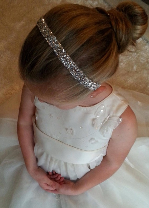 Head Piece Band Communion Wedding Hair Accessories Flower Girl Pageant Birthday