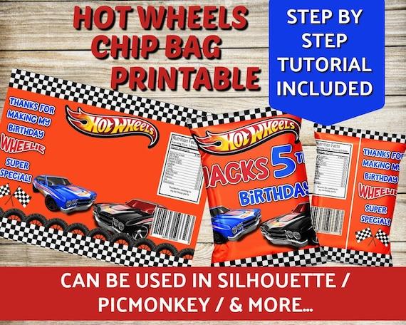 Hot Wheels Blank Chip Bag Template Hot Wheels Favor Bag