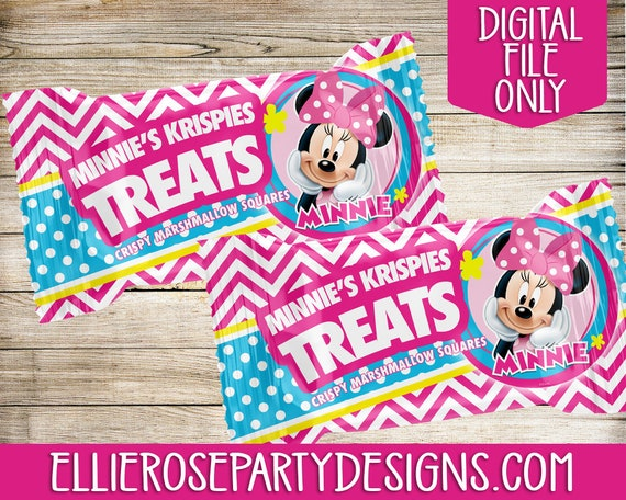 graphic about Printable Marshmallow Template titled Minnie Mouse Bowtique Rice Krispie Address Printable Template, Minnie Mouse Bowtique Birthday Get-togethers, Marshmallow Address occasion favors