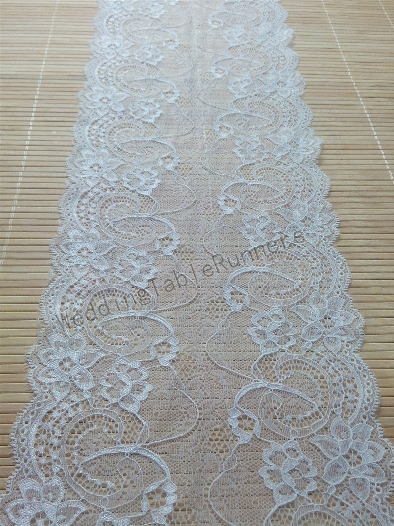 factory authentic size 7 best website Ivory Wedding table runner lace runner, wedding runners lace table  weddings, Wedding decor 7