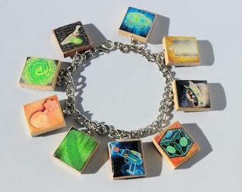 Rick & Morty Inspired Scrabble Tile Charm Bracelet