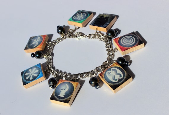 wakandan kimoyo beads scrabble tile bracelet black panther etsy
