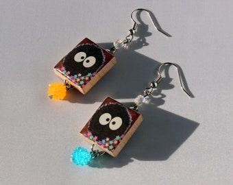 Soot Spring Scrabble Tile Dangle Earrings