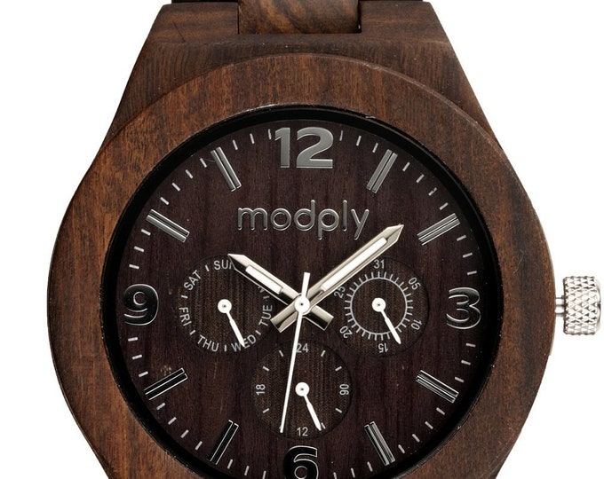 Engraved Wooden Watch, Personalized Wood Watch, Fathers Day, Groomsmen Gift, Wooden Watch for Men, Men's Wood Watch, Wedding Gift for Man