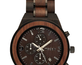 Men Watch, Engraved Wooden Watch, Personalized Gift For Men, Custom Wood Watch, 5th Anniversary Gift, Wrist Watch, Analog Watch, Men Gift