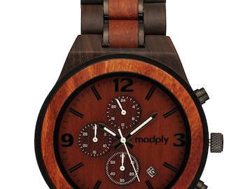 Engraved Wood Watch for Men, Personalized Watch, Custom Wooden Watches, Personalized Anniversary Gifts, Birthday Gift for Him
