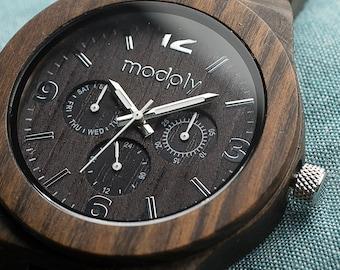 Wood Watch, Custom Engraved Watch, Personalized Watch, Grandfathers Day Gift, Wrist Watch, Analog Watch, Grandpa Gift, Boyfriend Watch