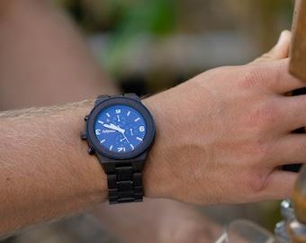 Wooden Watches For Men Engraved Watches Custom Personalized Watches Monogram Watch For Men Groomsmen Watches Wedding Best Man Watch