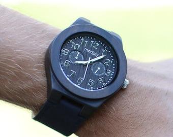 Personalized Gift For Men, Wood Watch For Men, Custom Engraved Watch, Monogram Watch, Wrist Watch, Modern Watch, Designer Watch,Teacher Gift