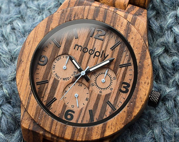 Custom Engraved Watch, Wood Watch, Gift For Dad, Men Watch, Grandfathers Day Gift, Personalized Watch, Father Of The Groom Watch, Best Man