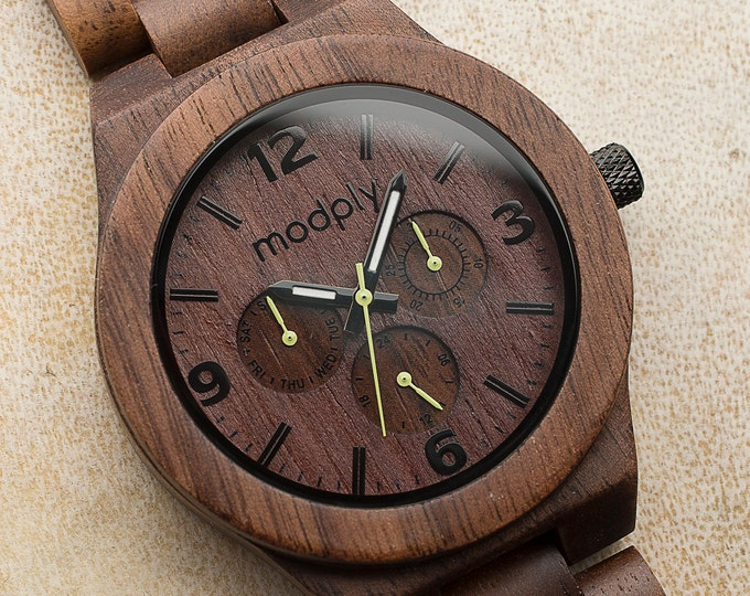 Men Watch, Engraved Watch, Brown Watch, Personalized Watch, Custom Watch, Husband Gift, Wrist Watch, Analog Watch, Battery Watch, Grandpa