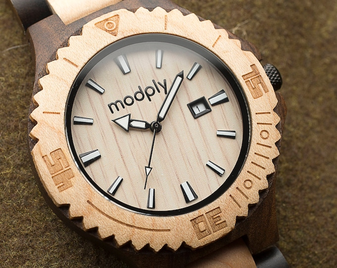 Men Watch, Wood Watch, Mens Gift, Analog Watch, Engraved Watch, Monogram Watch, Modern Watch, Groomsmen Watch, Bamboo Watch, Wrist Watch