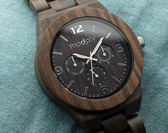 Men's Wooden Watch, Wood Watch, Engraved Wood Watch, Custom Watch, Groomsmen Gift, Man Watch, Groom Gift