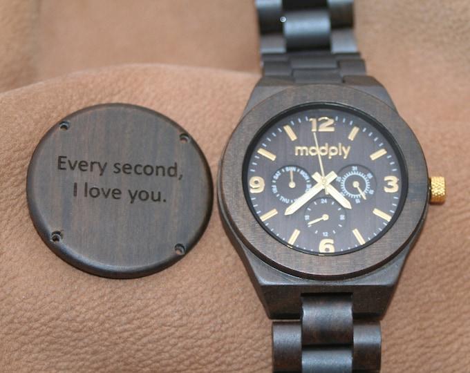 Wooden Watch, Groomsmen Gift, Men Watch, Engraved Wood, Personalized Watch, Custom Watch, Wrist Watch, Gift For Him, Wood Jewelry, Analog