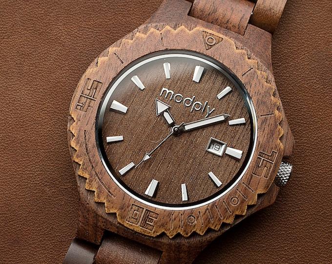 Wood Watch, Engraved Watch, Personalized Gift For Men, Retirement Gift, Battery Watch, Monogram Watch, Custom Watch, Groomsmen Watch