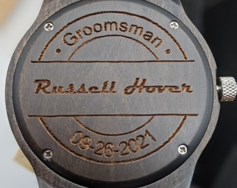Groomsmen Watches Set, Engraved Wood Watches, Initals Wedding Watches Set, Best Man Watch, Groomsmen Gift, Wedding Watches Gift Set, Groom