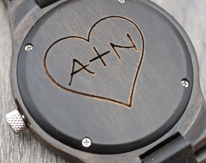 Wooden Watch, Mens Watch, Personalized Watch, Custom Watch, Anniversary Gift, Engraved Watch, Christmas Gift, Couple Watch, Boyfriend Gift