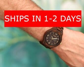 Men Wood Watch, Gift For Men, Uncle Watch, Personalized Men Gift, Unique Watch, Analog Watch, Personalized Watch, Custom Watch,Monogram Gift