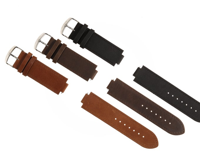 Mens Replacement Leather Watch Band, Men Accessories, Easter Gift, Leather Watch Strap, Replacement Band, Leather Accessories, Men Gift