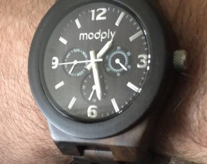 Husband Wedding Gift Watch Personalized Wood Custom Watch Engraved Monogram Watch Wedding Personalized Gift Wrist Watch Analog Black Watch