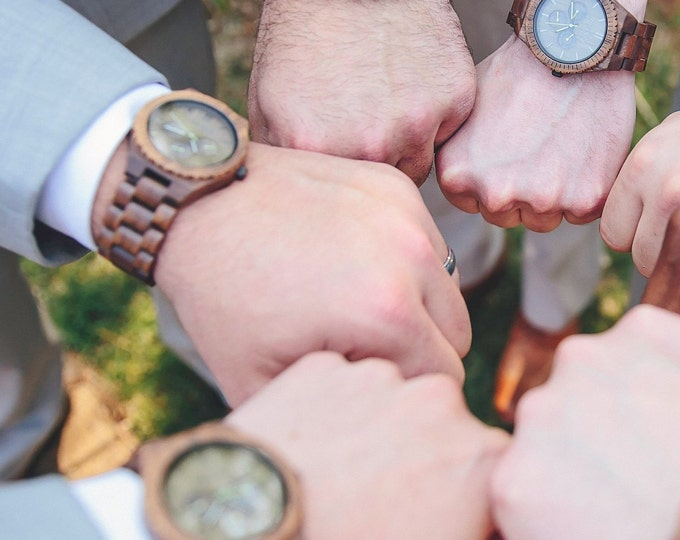 Men Wood Watch, Engraved Watch, Personalized Watch, Custom Watch, Self Gift For Men, Groomsmen Proposal, Retirement Gift, Graduation Gift