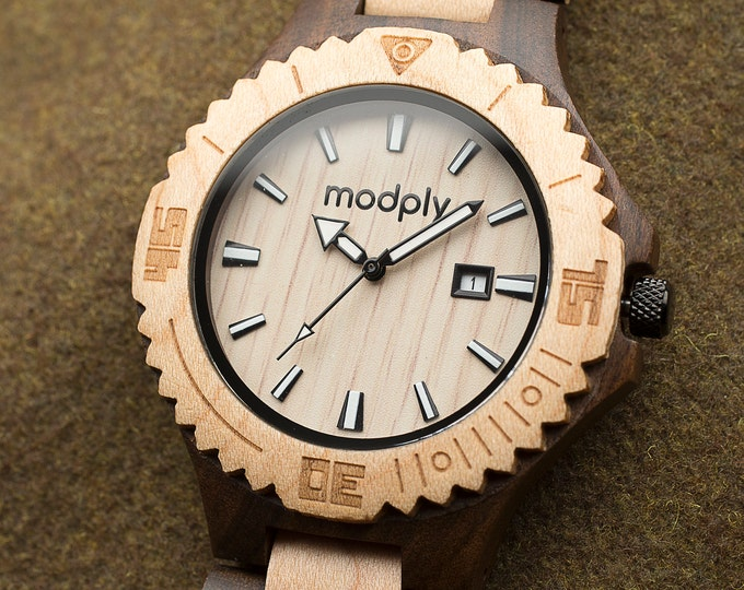 Set Of 5 Watches, Engraved Wood Watch, Monogram Watch, Personalized Watch, Groomsmen Gift, Father Of The Bride Watch, Wedding Watch